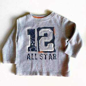 Waffle Knit Thermal Long Sleeve T-shirt - 2T